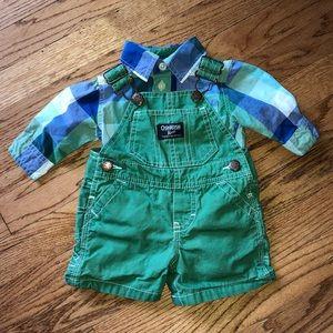 OshKosh B'gosh overall onesie set